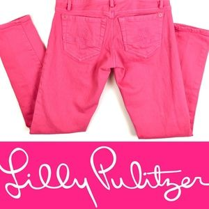 Lilly Pulitzer Worth Skinny Jeans Pink EUC Size 0